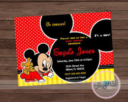 Free Mickey Mouse Baby Shower Invitation Templates. Free Disney Baby ...