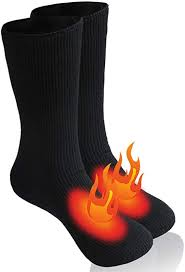 <b>Mens</b> Heated <b>Winter</b> Socks, Insulated Sox Thermal Socks 9-13 <b>1 Pair</b>