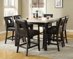 Elegant Dining Room Design With Archstone 7 Piece Marble Top