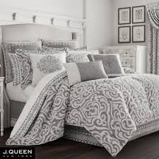pierce damask comforter set dark gray