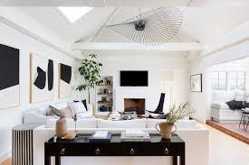 Modern Interior Designers Los Angeles Jdp Interiors Hollywood Hills Black And White Modern Living