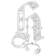 Free Coloring Pages Of Illuminated I Illuminated Letters Coloring