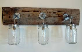 amazing of country vanity lights rustic bathroom vanity barn wood mason jar hanging light fixture