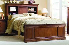 Image of: Bookcase Headboard Wooden