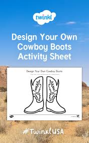 Design Your Own Boots Children Will Love Creating Their Own Cowboy Boots With This