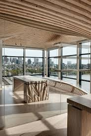 wooden office. Designing And Constructing The Wooden Interior For One Main Renovation Project In Boston, USA Office