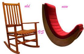 red verner panton relaxer rocking chair