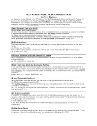Mla Cite In Text Work Cited Essay Example Cover Letter Mla Citing In An