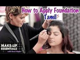 tamil famed make up artist gouri kapur demonstrates how to put on foundation and cover up any spots dark circlearks foundation and concealer are