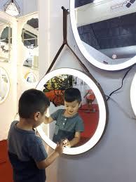 Gương makeup đèn led dây da Citybuilding CBJ 011C | Đèn led, Gương, Gương treo  tường