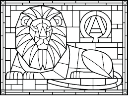 Free Printable Cross Coloring Pages Easter Egg Stained Glass Stain