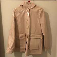 pink patent faux leather raincoat m 5bb9517386bc8dfb94585f