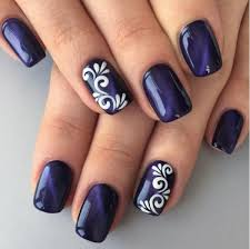 Simple Nail Design Ideas 30 Dark Blue Nail Art Designs