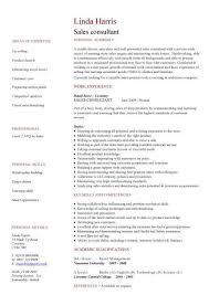 Consultant Resume Template Sales Consultant Cv Sample Template