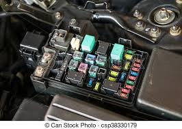 fuse box detail of a car engine bay fuses fuse box csp38330179