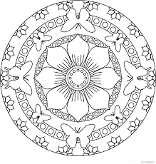 Small Picture Mandala Coloring Pages Color Online Coloring Coloring Pages