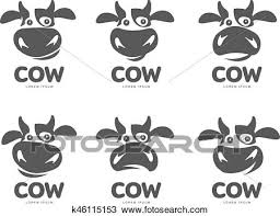 Cow Template Cow Logo Template Clipart K46115153 Fotosearch