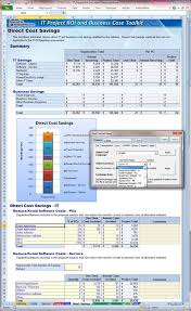 Excel Roi Template It Project Roi And Business Case Toolkit
