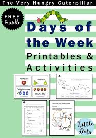 Download free days of the week flashcards, wheel and worksheets ...