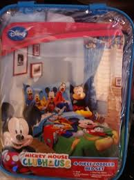 mickey mouse clubhouse 4 pc toddler bed set new pack 2 sheets