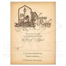 How To Reply To Wedding Rsvp Card Fairy Tale Wedding Rsvp Card Medieval Castle Once Upon A Time