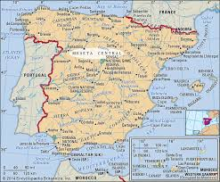 Spain town maps, road map and tourist map, with michelin hotels, tourist sites and restaurants for spain. Meseta Central Plateau Iberian Peninsula Britannica