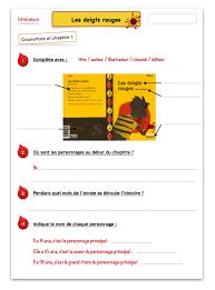 Les Doigts Rouges Fiches De Lecture Ce2 Le Blog Du Cancre