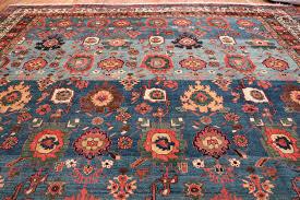 oversized blue antique persian malayer geometric rug 45761 top design nazmiyal