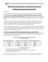 Bsa Registration Fee Chart 2019 Nra Rifle Shotgun Instructor Class