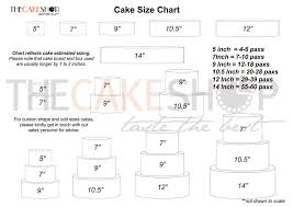 Cake Size And Price Chart Cake Size Chart Cake Delivery Singapore