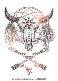 Dream Catcher Satanic Royaltyfree Pentagram With Animal Skull Satanic 100 24