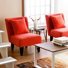 holly martin purban 2pc slipper chairs red orange