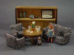 dollhouse miniature furniture. Fine Dollhouse Vintage German Dollhouse Miniature Living Room Furniture Throughout S