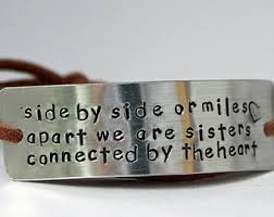 Sister bracelet, sister bridesmaid gift, big sister gift, sister jewelry,  handstamped wrap