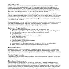 Cna Job Description For Resume Enchanting Nursing Assistant Job Description For Resume Geccetackletartsco