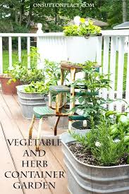 container garden vegetables. Modren Container Easy Container Gardening  Vegetables And Herbs Tips For Growing A Garden  In Containers Plant Suggestions More With Garden I