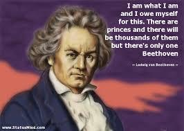 Ludwig van Beethoven Quotes at StatusMind.com via Relatably.com