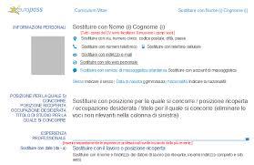 Cv europass da compilare in word e valido in l'unione europea! Curriculum Vitae Il Nuovo Modello Cv Europass 2013