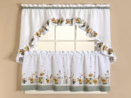 Sunflower Curtains For Kitchen Curtains Set Sheer Sunflower Kitchen Curtains Sunflower Kitchen
