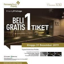 Free Tiket Buy 1 Free 1 Ticket At Cinema Xxi Pesona Square