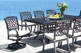 cast aluminum patio chairs. Carleton Cast Aluminum Patio Furniture Dining Set Chairs