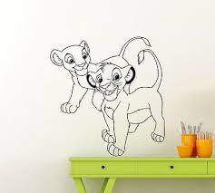 lion king wall decal simba nala baby