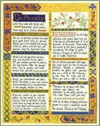 Desiderata Cross Stitch Chart Desiderata Cross Stitch Sampler Complete Cross Stitch Kit On 14 Aida With Clear Colour Chart