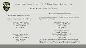 Jeanne Clery Campus Security Policy Crime Statistics