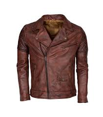 men s brando biker motorcycle vintage distressed winter leather jacket 1