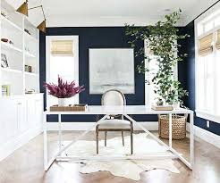 Navy Blue And White Home Office Interiors By Color