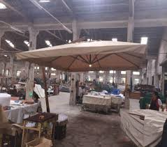 Fancy Lighting Hq Sdn Bhd Folding Cantilever Offside Outdoor Parasol With Light