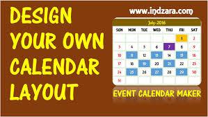 Create Your Own Calendar Template - Costumepartyrun