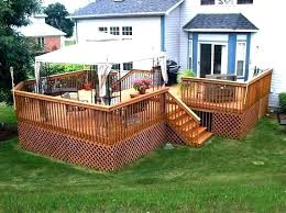 above ground pool deck kits. Prefabricated Deck Kits Pool Low Cost Above Ground