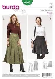 Pleated Skirt Pattern Simple BD48 Women's Pleated Skirt Burda Style Pattern Jaycottscouk